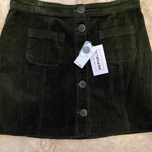 NWT For The Republic corduroy skirt.